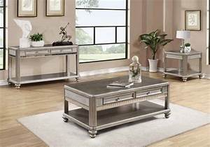 Living room coffee end side sofa console table mirrored for Mirrored coffee table and end tables