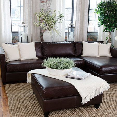 Brown Sectional Living Room Ideas by Best 25 Brown Leather Sofas Ideas On Brown