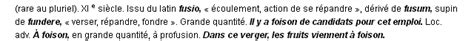 Cv Exles Francais by Foison La D 233 Finition Du Terme Quot Foison Quot