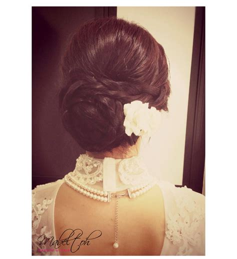 braided hairstyle  full lace cheongsam gown nice