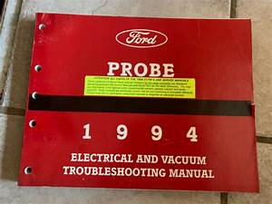 1994 Ford Probe Electrical Wiring Diagrams Service Shop