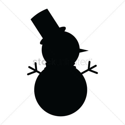 snowman silhouette clip art clipart best