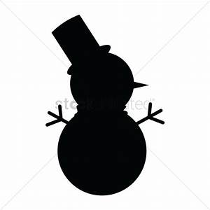 Silhouette clipart snowman - Pencil and in color ...
