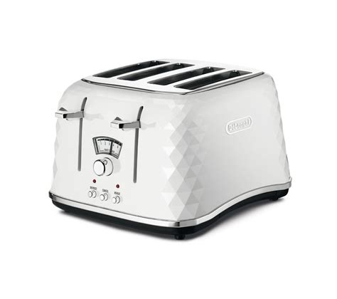 Delonghi 4 Slice Toaster by Buy Delonghi Brillante Ctj4003 W 4 Slice Toaster White