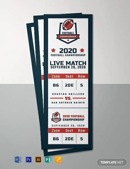 sports event ticket template word psd indesign
