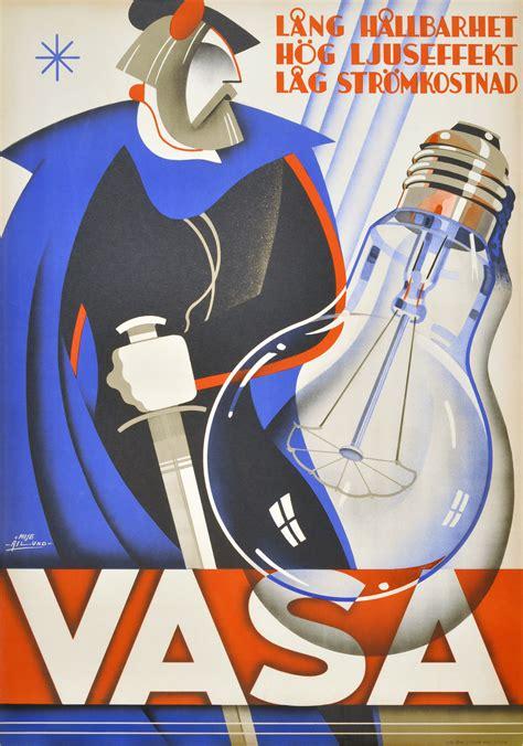 original vintage poster vasa light bulbs vasa