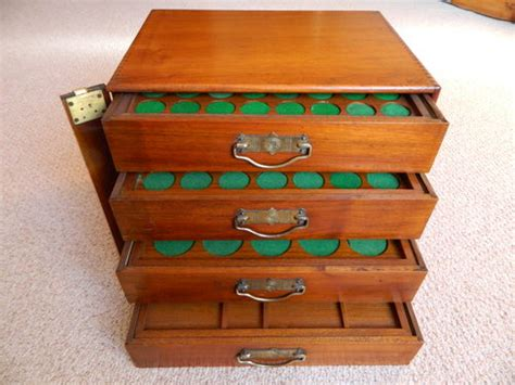 coin cabinets for sale walnut coin collectors cabinet antiques atlas