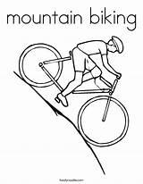 Mountain Bike Coloring Biking Downhill Twistynoodle Clipart Noodle Twisty Transportation Clip Library Popular Prints sketch template