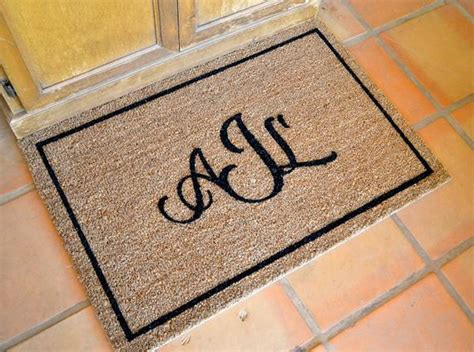 Coir Doormat Personalized by Large Coir Monogram Doormat Personalized Painted