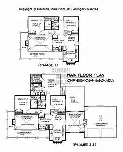 Build-in-Stages Small House Plan BS-1084-1660-AD Sq Ft
