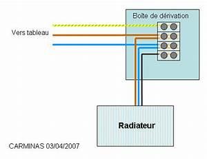 brancher radiateur electrique mural couleurs des fils With couleur fil electrique neutre