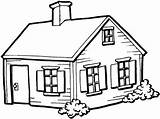 Coloring Village Dream Bungalow Cabin Clipart Houses Shelter Hunting Estate Camp Too Heaven sketch template