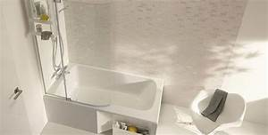 choisir sa baignoire pour une petite salle de bains With petite salle de bain avec douche et baignoire