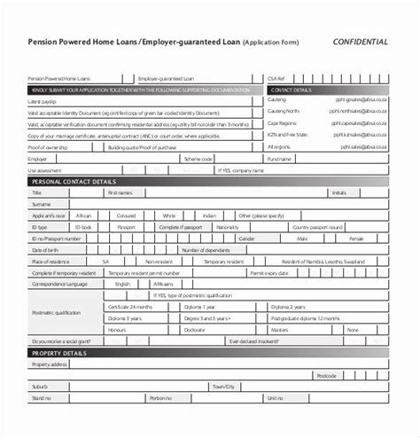 personal loan application form template fresh  loan