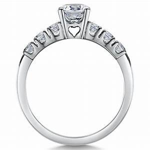 titanium solitaire engagement wedding ring set bridal With titanium wedding ring sets