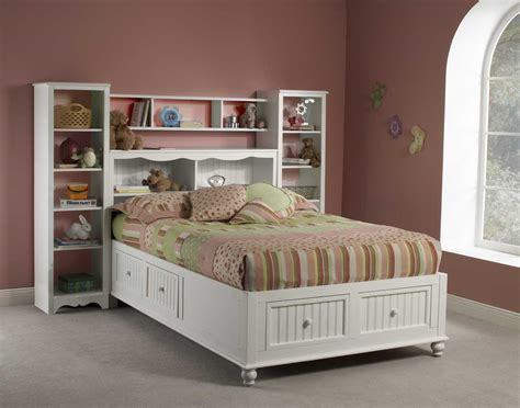 Bookcase Storage Bed by Hillsdale Westfield Platform Bookcase Bed With Wall