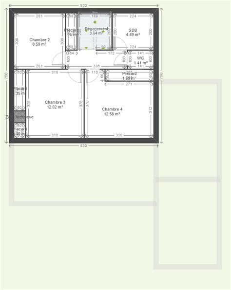 plan maison 1 騁age 3 chambres avis sur plan r 1 maison environ 140m 60 messages