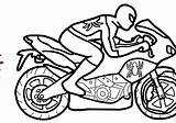 Motorcycle Coloring Pages Bike Spiderman Drawing Easy Motor Motorbike Colouring Popular Clipartmag sketch template