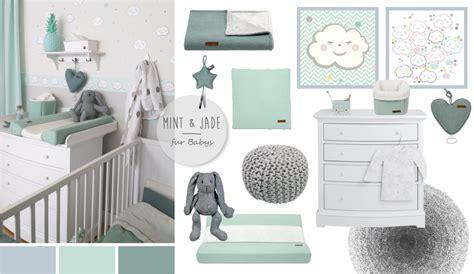 Kinderzimmer Junge Mint babyzimmer mit wolken in grau mint jade kinderzimmer deko