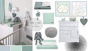 Babyzimmer Einrichten Junge : babyzimmer mit wolken in grau mint jade kinderzimmer ~ Michelbontemps.com Haus und Dekorationen