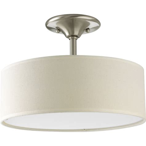 two light semi flush ceiling fixture