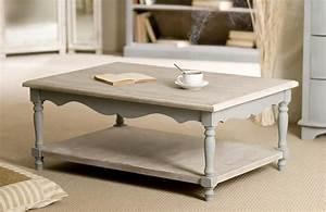 Table Bois Rectangulaire : table basse rectangulaire en bois 1 tablette carla ~ Teatrodelosmanantiales.com Idées de Décoration