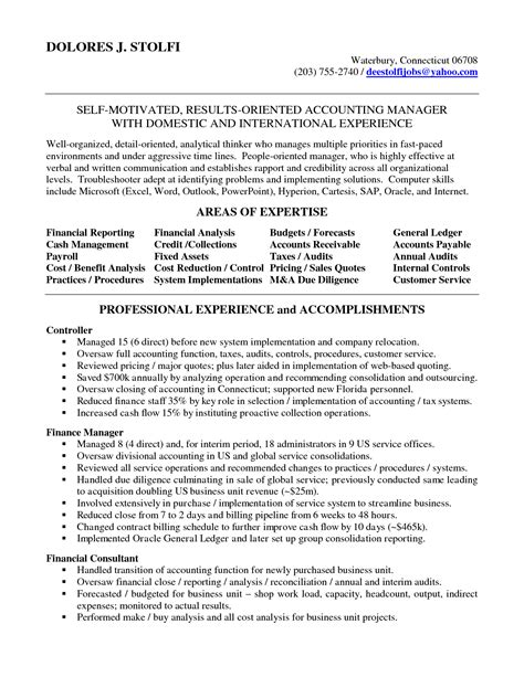 Resume For Accounting Manager by Accounting Manager Resume Accounting Manager In Nyc