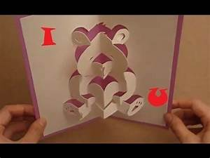 Mother's Day Pop Up Card Tutorial - Teddy Bear Of Love ...