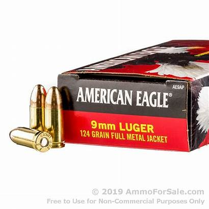 9mm Ammo 124gr Rounds 1000 Federal Fmj
