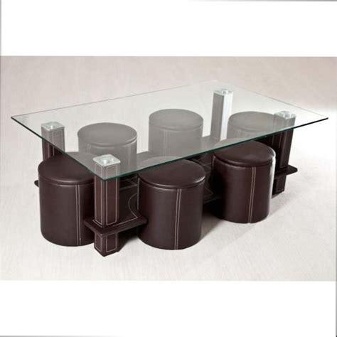 table basse 6 pouf table basse table basse en verre 6 poufs mezzo