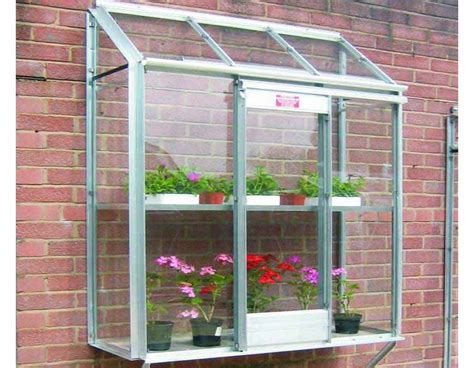 small greenhouse elite window garden mini greenhouse can attach to small walls or sheds