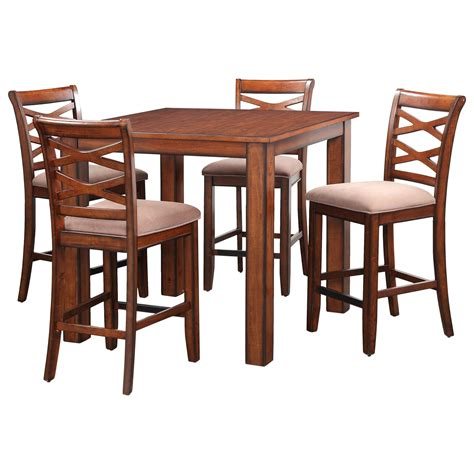 standard furniture redondo rustic square table and chair