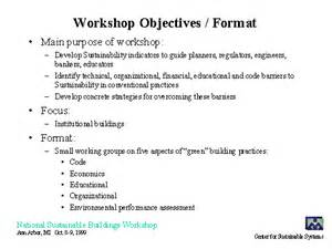 Template For Resume Workshop Objectives Format