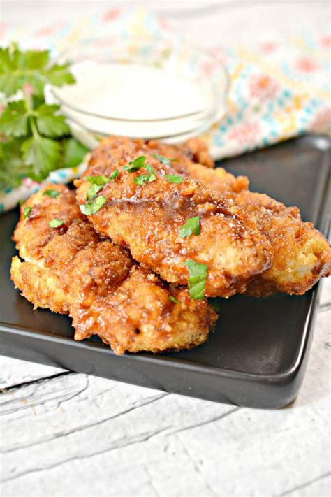 keto chicken tenders easy  carb air fried bbq brown