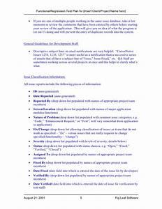 Fig leaf software functional regression test plan template for Functional test plan template