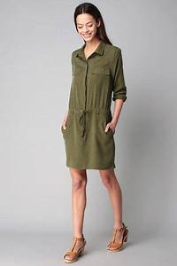 1000 idees sur le theme chemise kaki femme sur pinterest With robe jean kaki