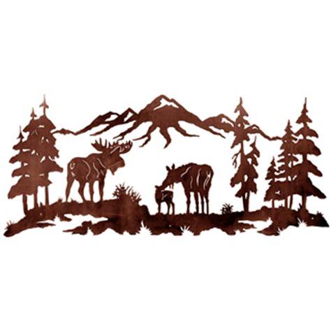 moose family metal wall art