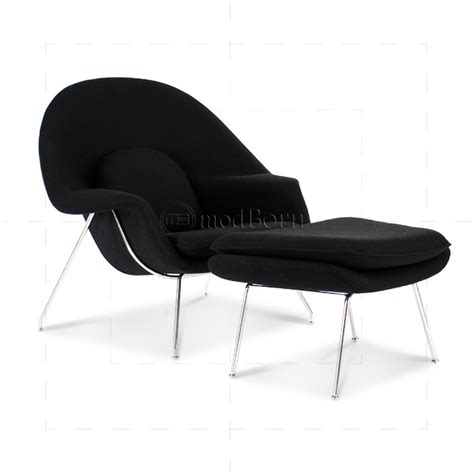womb chair reproduction canada eero saarinen style womb chair black wool replica