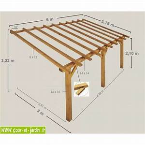 carport adosse bois carport bois pour voiture With lovely faire plan de maison 3 appentis 1 pan l wood structure