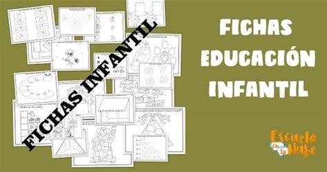 Fichas para niños de 3-6 años. Educación infantil