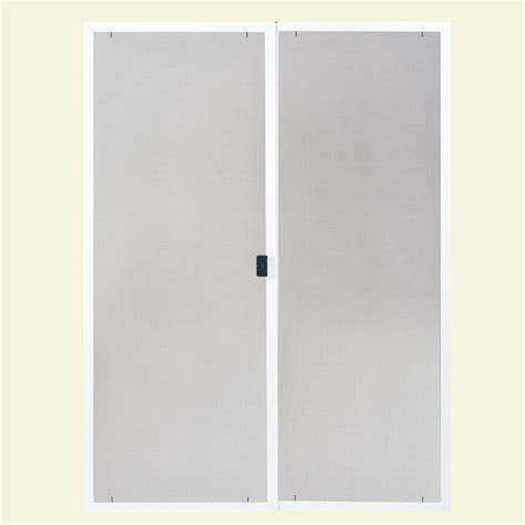 masonite 80 in x 60 in replacement screen kit for dual patio door 44585 the home depot