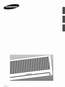 Samsung Air Conditioner As18a9 A0 Rcd User Guide