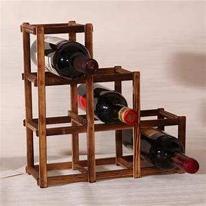 1pc, Wood, Wine, Holder, High, Quality, Solid, Wood, Folding, Wine, Racks, Foldable, Wine, Stand, Wooden, Wine