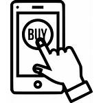 Icon Mobile Clipart Order Shopping Transparent Sell