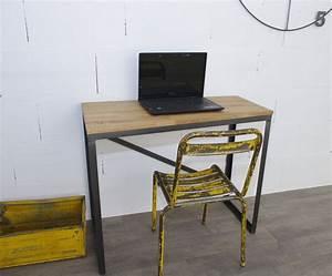 Bureau Type Industriel : bureau style industriel sur mesure en ch ne et acier ~ Dode.kayakingforconservation.com Idées de Décoration