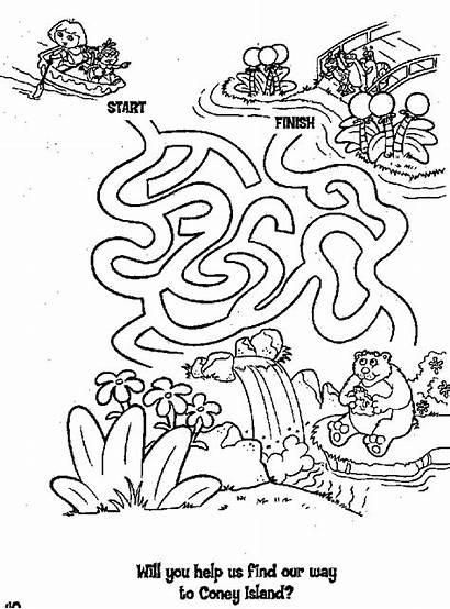 Coloring Dora Explorer Maze Pages