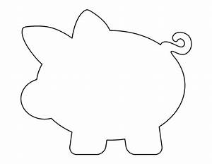 Piggy bank pattern use the printable outline for crafts creating stencils scrapbooking and for Piggy bank templates