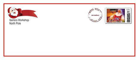 letter  santa envelope template  printables