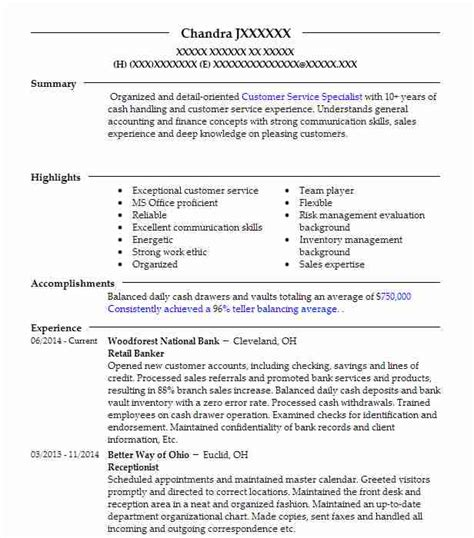 resume service cleveland ohio tax preparation resume exles banking and financial services resumes livecareer
