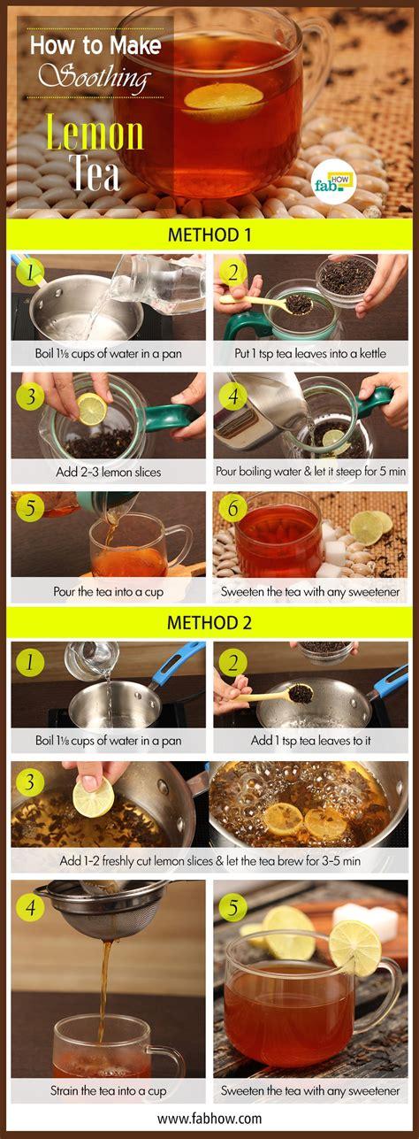 How To Make Lemon Tea  Fab How